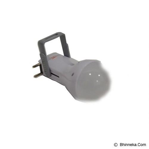 LUBY Lampu LED Emergency Super Terang Model Senter Putih [L-5615] - Lampu Emergency